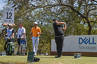 Patrick Reed (USA) watches his tee shot on 12 during round 1 of the World Golf Championships, Dell Match Play, Austin Country Club, Austin, Texas. 3/21/2018.<br /> Picture: Golffile | Ken Murray<br /> <br /> <br /> All photo usage must carry mandatory copyright credit (&copy; Golffile | Ken Murray)