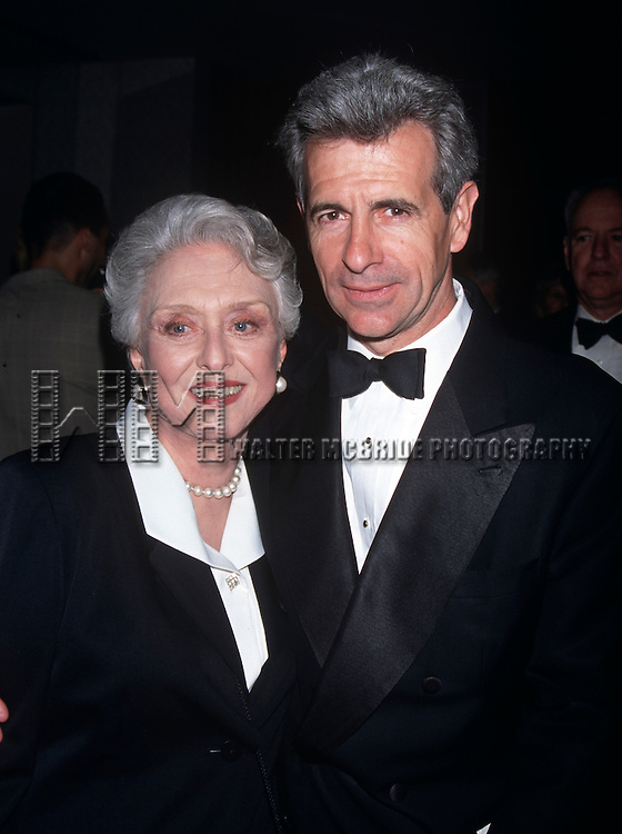 Celeste Holm and James Naughton at the Manhattan Club Spring Gala at the New York Hilton in New York City in May 11th, 1998.