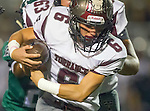 Torrance,CA 10/09/15 - Robert Gutierrez (Torrance #6) in action during the Torrance vs South High varsity football game.  South defeated Torrance 24-21.