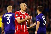 September 12th 2017, Munich, Germany, Champions League football, Bayern Munich versus Anderlecht;  Arjen Robben applauds his team mates