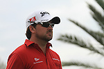 Graeme McDowell walks off the 9th tee on day one of the Abu Dhabi HSBC Golf Championship 2011, at the Abu Dhabi golf club, UAE. 20/1/11..Picture Fran Caffrey/www.golffile.ie.