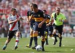 River Plate empato en casa 2x2 con Boca Junior en el super clasico del torneo apertura del futbol argentino