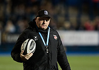 Dragons' Head Coach Bernard Jackman<br /> <br /> Photographer Simon King/CameraSport<br /> <br /> Guinness Pro14 Round 6 - Cardiff Blues v Dragons - Friday 6th October 2017 - Cardiff Arms Park - Cardiff<br /> <br /> World Copyright &copy; 2017 CameraSport. All rights reserved. 43 Linden Ave. Countesthorpe. Leicester. England. LE8 5PG - Tel: +44 (0) 116 277 4147 - admin@camerasport.com - www.camerasport.co
