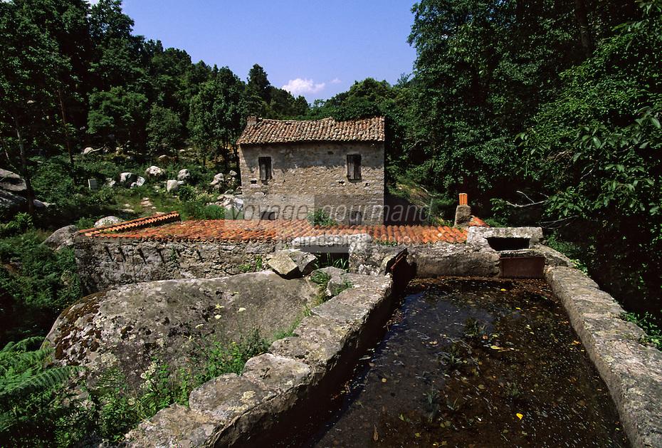 Europe/France/Corse/2A/Corse-du-Sud/Bocognano: Le moulin à farine de châtaigne