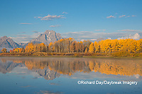 67545-09305 Sunrise at Oxbow Bend in fall; Grand Teton National Park; WY