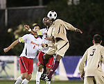 14 November 2008: Boston College's Edvin Worley (6). The University of Maryland defeated Boston College 1-0 at WakeMed Stadium at WakeMed Soccer Park in Cary, NC in a men's ACC tournament semifinal game.