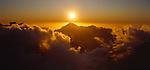 Sunset over the Karangarua Mountains. Westland National Park. New Zealand.