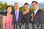 Marilyn Murphy, Michael Brosnan, Alexandra and Igor Van Riel enjoying  the Killarney Mayors Bash in the Killarney Oaks hotel on Friday.....