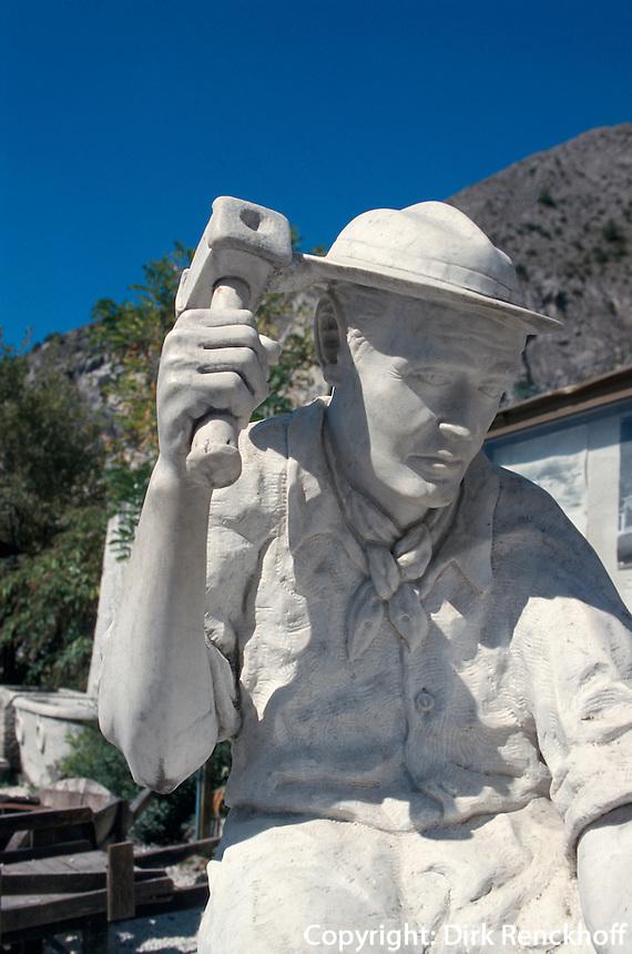 Italien, Toskana, Marmorbergbaumuseum bei Carrara