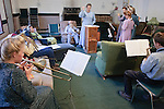 """Sept 8, 2008 -- COLORADO CITY, AZ:  Members of the Jessop family, polygamist members of the FLDS, participate in band practice in their home before starting their day in home schooling. Members of the FLDS pulled their children from the public schools several years ago, now most of the families in town home school their children. The Jessops have almost 40 youngsters, in grades kindergarten through 8th grade, in their home school. Colorado City and the neighboring town of Hildale, UT, are home to the Fundamentalist Church of Jesus Christ of Latter Day Saints (FLDS) which split from the mainstream Church of Jesus Christ of Latter Day Saints (Mormons) after the Mormons banned what they call """"Celestial Marriage"""" (polygamy) in 1890 so that Utah could gain statehood into the United States. The FLDS Prophet (leader), Warren Jeffs, has been convicted in Utah of """"rape as an accomplice"""" for arranging the marriage of teenage girl to her cousin and is currently on trial for similar, those less serious, charges in Arizona. After Texas child protection authorities raided the Yearning for Zion Ranch, (the FLDS compound in Eldorado, TX) many members of the FLDS community in Colorado City/Hildale fear either Arizona or Utah authorities could raid their homes in the same way. Older members of the community still remember the Short Creek Raid of 1953 when Arizona authorities using National Guard troops, raided the community, arresting the men and placing women and children in """"protective"""" custody. After two years in foster care, the women and children returned to their homes. After the raid, the FLDS Church eliminated any connection to the """"Short Creek raid"""" by renaming their town Colorado City in Arizona and Hildale in Utah. The Jessops are a polygamous family and members of the FLDS.   Photo by Jack Kurtz / ZUMA Press"""