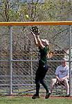 April 20, 2012:   University of Hawai'i Warrior Brynne Buchanan makes the catch at the fence against the Nevada Wolf Pack during their NCAA softball game played at Christina M. Hixson Softball Park on Friday in Reno, Nevada.