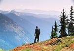Hiker, Mount Rainier National Park, Washington