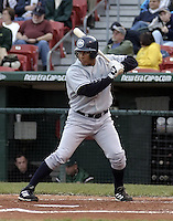 June 4, 2004:  John Rodriguez of the Columbus Clippers, International League (AAA) affiliate of the New York Yankees, during a game at Dunn Tire Park in Buffalo, NY.  Photo by:  Mike Janes/Four Seam Images