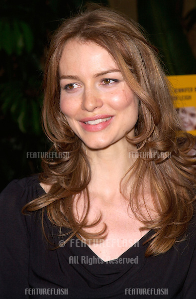 Actress SAFFRON BURROWS at the Los Angeles premiere of The Anniversary Party..06JUN2001. © Paul Smith/Featureflash