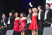 London, UK. 21 June 2015. Stars from the hit musical The Commitments perform at West End Live 2015 in Trafalgar Square.