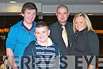 RACE NIGHT: Enjoying the race night at the Kingdom Greyhound Stadium on Saturday l-r: Jamie O'Callaghan, Dylan Storan and Jason and Melyssa O'Callaghan.