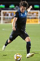 SAN JOSE, CA - SEPTEMBER 25: Carlos Fierro #21 of the San Jose Earthquakes during a game between Philadelphia Union and San Jose Earthquakes at Avaya Stadium on September 25, 2019 in San Jose, California.