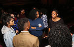 Adrianna Hicks and Phoenix Best with Cast members of 'The Color Purple' host a meet and greet with kids from PAL at The Jacobs Theatre on December 7, 2016 in New York City.