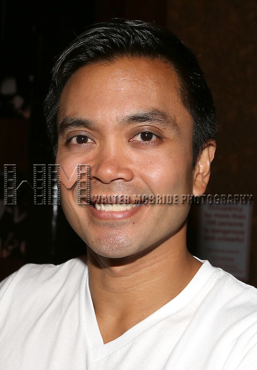 Jose Llana posing for the 'Wake Up with Broadwayworld.com' campaign at Joe's Pub on June 16, 2014 in New York City.