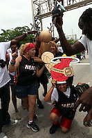 View of the parade revelers celebrating the Miami Heat's 2012 NBA Basketball win. Miami, Florida. June 25, 2012. © Majo Grossi/MediaPunch Inc. *NORTEPHOTO* **SOLO*VENTA*EN*MEXICO** **CREDITO*OBLIGATORIO** **No*Venta*A*Terceros** **No*Sale*So*third** *** No*Se*Permite Hacer Archivo** **No*Sale*So*third** *Para*más*información:*email*NortePhoto@gmail.com*web*NortePhoto.com*