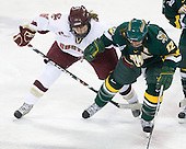 Kristin Regan (BC - 6), Celeste Doucet (Vermont - 12) - The University of Vermont Catamounts defeated the Boston College Eagles 5-1 on Saturday, November 7, 2009, at Conte Forum in Chestnut Hill, Massachusetts.