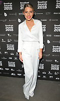 Mollie King at the Broadcast Awards 2018, Grosvenor House Hotel, Park Lane, London, England, UK, on Wednesday 07 February 2018.<br /> CAP/CAN<br /> &copy;CAN/Capital Pictures