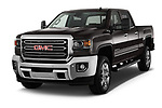 2019 GMC Sierra 2500HD 2WD Crew Cab Standard Box SLT 4 Door Pick Up angular front stock photos of front three quarter view