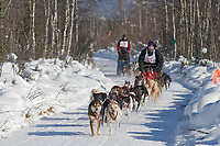 Mushers Mike Sanford and Stewart Attla, 2007 Open North American Championship sled dog race (the world's premier sled dog sprint race) is held annually in Fairbanks, Alaska.