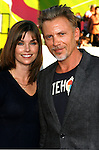 """Polly Shannon and Actor Callum Rennie arrive at the The World Premiere of """"The X-Files: I Want To Believe"""" at Mann's Grauman Chinese Theatre on July 23, 2008 in Hollywood, California."""