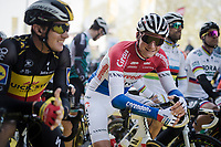 Mathieu Van Der Poel (NED/Correndon-Circus) at the race start in his very first De Ronde (and already amongst the favorites)<br /> <br /> 103rd Ronde van Vlaanderen 2019<br /> One day race from Antwerp to Oudenaarde (BEL/270km)<br /> <br /> ©kramon