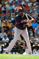 Boston Red Sox designated hitter David Ortiz (34) during a Spring Training game against the Pittsburgh Pirates on March 12, 2015 at McKechnie Field in Bradenton, Florida.  Boston defeated Pittsburgh 5-1.  (Mike Janes/Four Seam Images)