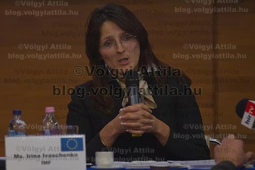 Yrina Ivashenko representative of IMF in Hungary attends the Economy Forum conference in Budapest, Hungary on November 24, 2011. ATTILA VOLGYI