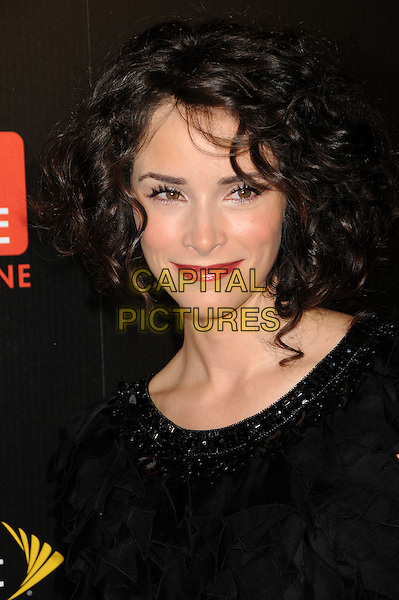 ABIGAIL SPENCER .TV Guide Magazine's Hot List Party 2009 held at the SLS Hotel, Los Angeles, California, USA, .10th November 2009..portrait headshot black curly hair lipstick make-up beaded neckline   .CAP/ADM/BP.©Byron Purvis/Admedia/Capital Pictures