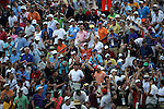 Fans,<br /> June 15, 2013 - Golf :<br /> Fans clap their hands on the stands at 17th hole during the third round of the U.S. Open Championship at the Merion Golf Club, East course in Haverford Township, Delaware Country, Pennsylvania. (Photo by Koji Aoki/AFLO SPORT) [0008]