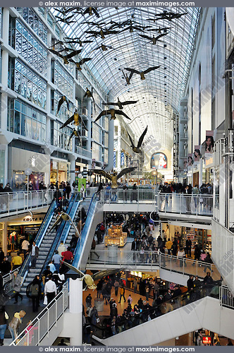 Toronto Eaton Centre One of the largest shopping malls in North America Toronto Ontario Canada