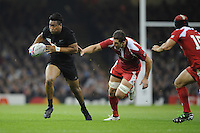 Julian Savea of New Zealand in action during Match 23 of the Rugby World Cup 2015 between New Zealand and Georgia - 02/10/2015 - Millennium Stadium, Cardiff<br /> Mandatory Credit: Rob Munro/Stewart Communications
