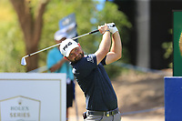 Andy Sullivan (ENG) on the 13th during the 1st round of the DP World Tour Championship, Jumeirah Golf Estates, Dubai, United Arab Emirates. 15/11/2018<br /> Picture: Golffile | Fran Caffrey<br /> <br /> <br /> All photo usage must carry mandatory copyright credit (&copy; Golffile | Fran Caffrey)