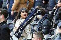 An overseas Spurs fan before Tottenham Hotspur vs Wolverhampton Wanderers, Premier League Football at Tottenham Hotspur Stadium on 1st March 2020