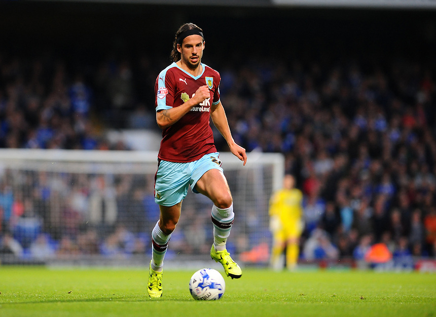Burnley's George Boyd<br /> <br /> Photographer Ashley Pickering/CameraSport<br /> <br /> Football - The Football League Sky Bet Championship - Ipswich Town v Burnley - Tuesday 18th August 2015 - Portman Road - Ipswich<br /> <br /> &copy; CameraSport - 43 Linden Ave. Countesthorpe. Leicester. England. LE8 5PG - Tel: +44 (0) 116 277 4147 - admin@camerasport.com - www.camerasport.com