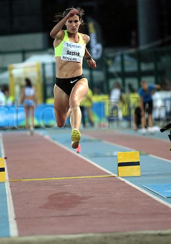 04.09.2012.  Rovereto, Italy.  Marija SESTAK (SLO) in action during the European Meeting Athletics 2012 IAAF Palio della Quercia Meeting