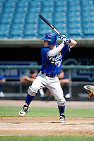 Dalton Dulin #31 of Memphis University School in Memphis, Tennessee playing for the Kansas City Royals scout team during the East Coast Pro Showcase at Alliance Bank Stadium on August 2, 2012 in Syracuse, New York.  (Mike Janes/Four Seam Images)