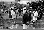 Zapotec Native people dance as musicians play traditional dances during a wedding ceremony in Coatecas Altas village, Oaxaca, November 22, 1998. Most of the villagers of Coatecas leave their home to harvest in northern state of Sinaloa.  © Photo by Heriberto Rodriguez