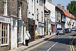 Small specialist shops on Bridge Street, Thetford, Norfolk, England