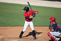 Jameson Fisher (11) of the Kannapolis Intimidators at bat against the Hagerstown Suns at Kannapolis Intimidators Stadium on June 14, 2017 in Kannapolis, North Carolina.  The Intimidators defeated the Suns 4-1 in game one of a double-header.  (Brian Westerholt/Four Seam Images)