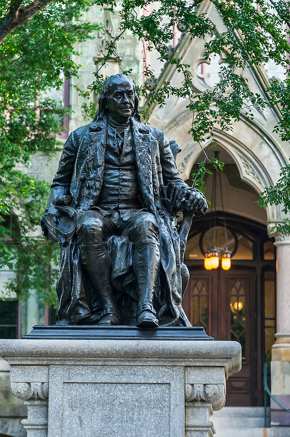 Ben Franklin sculpture at the University of Pennsylvania, Philadelphia, USA