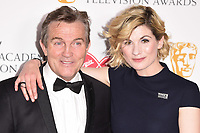 Bradley Walsh and Jodie Whittaker<br /> in the winners room for the BAFTA TV Awards 2018 at the Royal Festival Hall, London<br /> <br /> ©Ash Knotek  D3401  13/05/2018