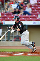 Quad Cities River Bandits outfielder Marc Wik (6) at bat during a game against the Cedar Rapids Kernels on August 19, 2014 at Perfect Game Field at Veterans Memorial Stadium in Cedar Rapids, Iowa.  Cedar Rapids defeated Quad Cities 5-3.  (Mike Janes/Four Seam Images)