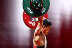 /Hiroaki Takao (JPN), <br /> AUGUST 21, 2018 - Weightlifting : <br /> Men's 62kg <br /> at JIExpo Kemayoran Hall A <br /> during the 2018 Jakarta Palembang Asian Games <br /> in Jakarta, Indonesia. <br /> (Photo by Naoki Nishimura/AFLO SPORT)