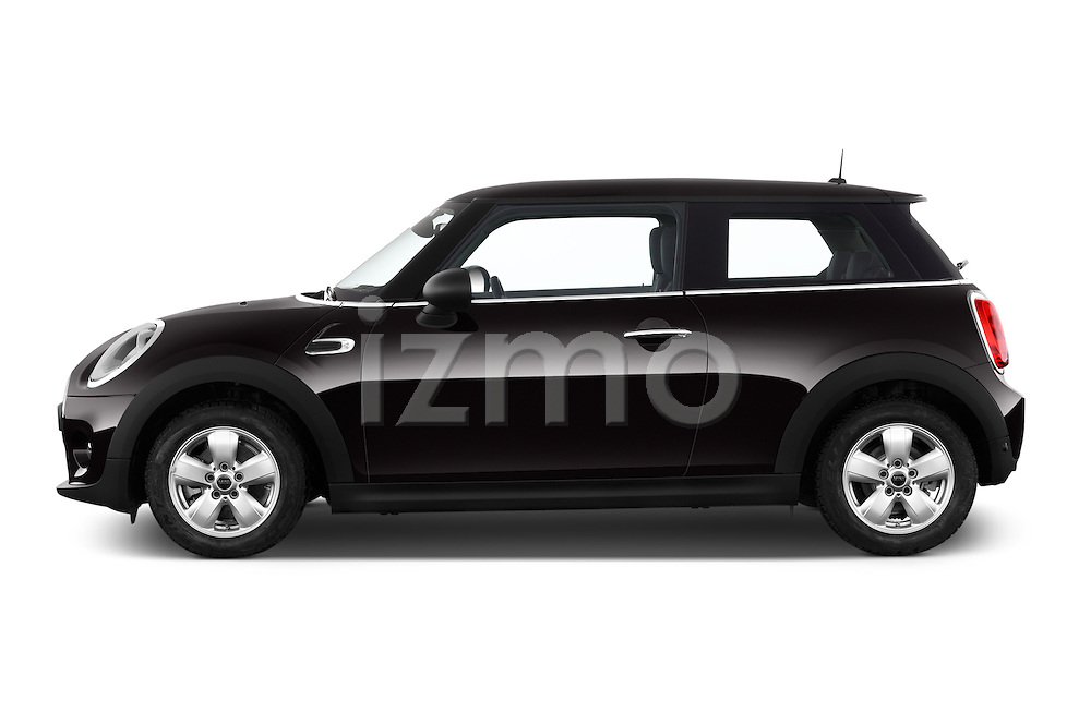 Car Driver side profile view of a 2015 MINI MINI Cooper 3 Door Hatchback Side View