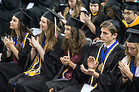 Spring 2016 MSU Graduation at Humphrey Coliseum, Saturday ceremony.<br />